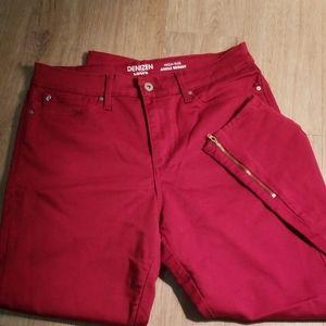 Red Levi's side zip Jean's